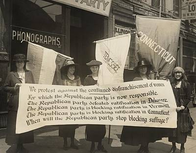 National Womens Party Members Picketing Poster