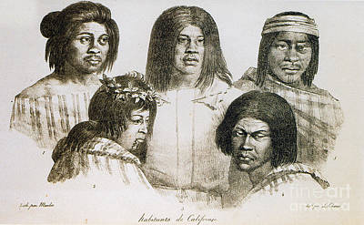 Native American Converts, California Poster by Photo Researchers