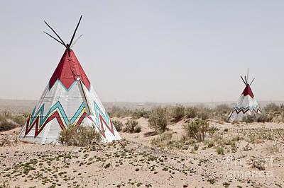 Native American Tipi Replicas Poster by Paul Edmondson