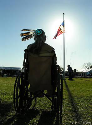 Native American Veteran In Wheel Chair Poster