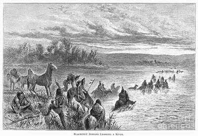 Native Americans: Blackfeet, C1860 Poster by Granger