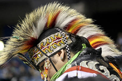 Poster featuring the photograph Native Canadian-head Dress by Nick Mares
