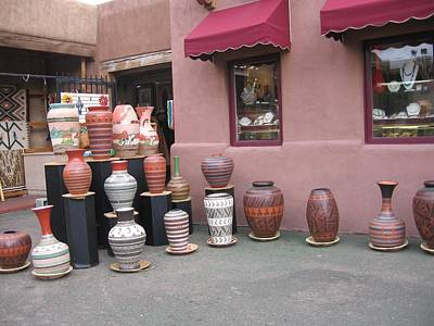 Poster featuring the photograph Native Jars And Vases Market by Dora Sofia Caputo Photographic Art and Design