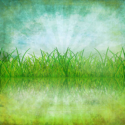 Nature And Grass On Paper Poster