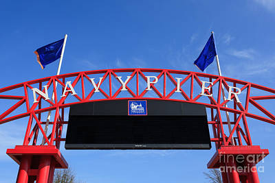 Navy Pier Sign In Chicago Poster