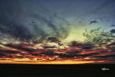 Nebraska Sunset Poster by Jeff Swanson