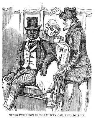 Negro Expulsion From Railway Car Poster by Everett