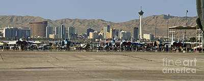 Nellis And Las Vegas Skyline Poster