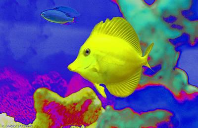 Neon Fish Poster
