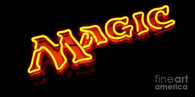 Neon Magic Poster by Steven Milner