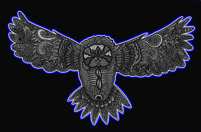 Neon Owl Poster
