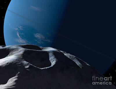 Neptune Seen From The Surface Poster