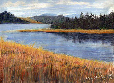 Poster featuring the painting Nestucca River And Bay  by Chriss Pagani