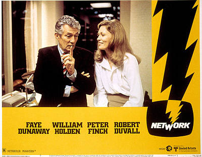 Network, Peter Finch, Faye Dunaway, 1976 Poster