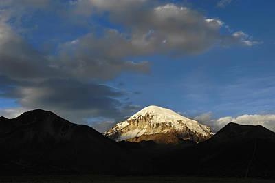 Nevado Sajama At Sunset. Republic Of Bolivia.  Poster