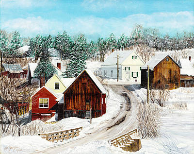 Poster featuring the painting New England Winter by Stuart B Yaeger