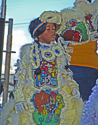 New Generation Of Mardi Gras Indians In New Orleans Poster