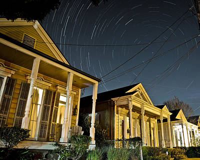 Poster featuring the photograph New Orleans Star Trails by Ray Devlin
