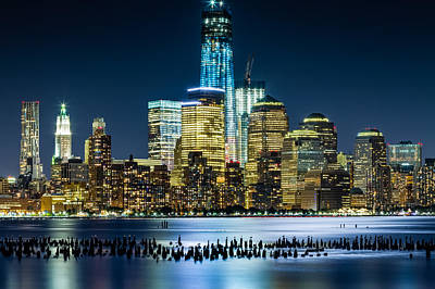 New Wtc And Remains Of Old Pier Poster