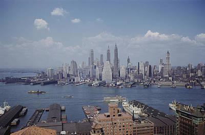 New York City.  Lower Manhattan Poster by B. Anthony Stewart