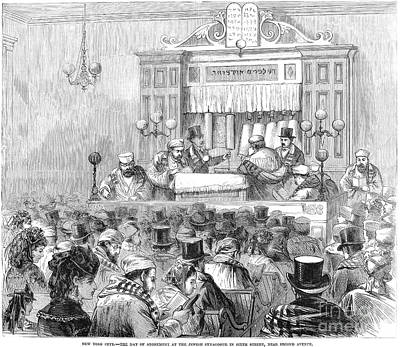 New York Synagogue, 1871 Poster by Granger