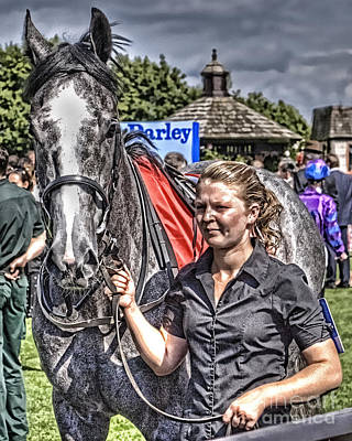 Poster featuring the photograph Newmarket Races I by Jack Torcello