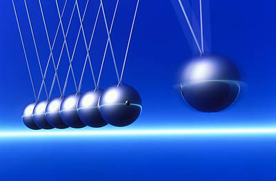 Newton's Cradle In Motion Poster