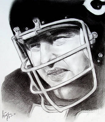 Nfl Hall Of Fame Player Dick Butkus Of The Chicago Bears Poster by Jim Fitzpatrick