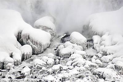 Niagara Falls Frozen Abstract 1 Poster