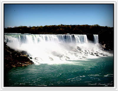 Poster featuring the photograph Niagara Falls The Canadian Side by Danielle  Parent