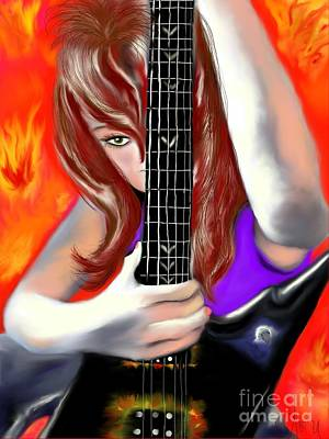 Poster featuring the painting Nicole  by Lori  Lovetere