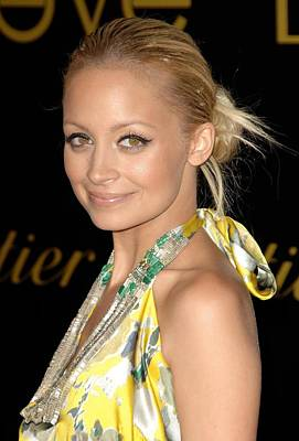 Nicole Richie Wearing A Dries Van Noten Poster by Everett