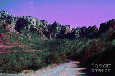Night Falls On Sedona Poster