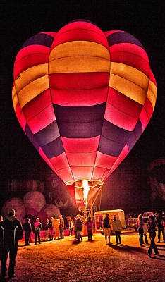 Night Lighting Of Ballon Poster by James Bethanis