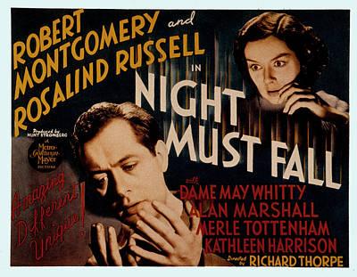 Night Must Fall, Robert Montgomery Poster