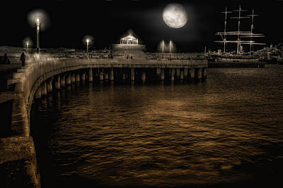 Night Port Poster by Michael Cleere