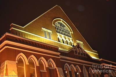 Night View Of The Ryman Poster
