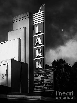 Nightfall At The Lark - Larkspur California - 5d18482 - Black And White Poster by Wingsdomain Art and Photography