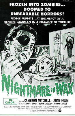 Nightmare In Wax, Cameron Mitchell Poster by Everett