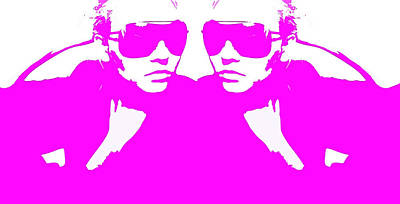 Niki Mirror Pink Poster by Naxart Studio