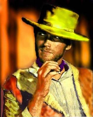 Nixo Clint Eastwood Poster by Nicholas Nixo