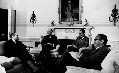 Nixon Presidency.  From Left  Gerard Poster by Everett