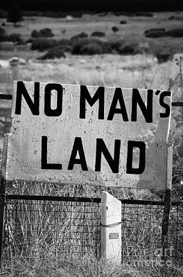 no mans land and restricted area of the UN buffer zone green line dividing north and south cyrus Poster