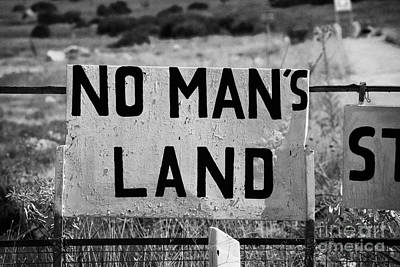 no mans land and restricted area of the UN buffer zone in the green line dividing cyprus famagusta Poster