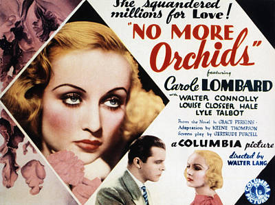No More Orchids, Carole Lombard, Lyle Poster by Everett