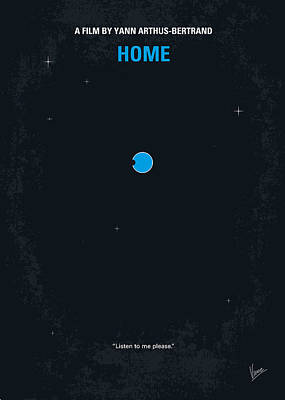 No037 My Home Minimal Movie Poster Poster by Chungkong Art