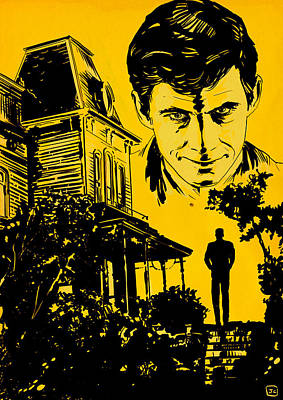Norman Bates Psycho Poster by Giuseppe Cristiano