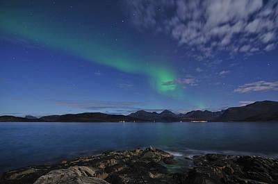 Northern Lights At Sommaroy Poster by Bernt Olsen