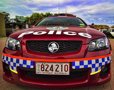 Poster featuring the photograph Northern Territory Police Car by Paul Svensen
