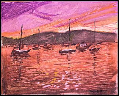 Northport Harbor Dusk Poster by Don Schaeffer